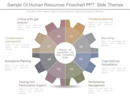 Sample Of Human Resources Flowchart Ppt  Slide Themes