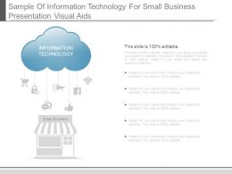 Sample Of Information Technology For Small Business Presentation Visual Aids