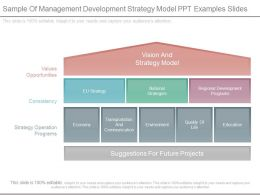 Sample Of Management Development Strategy Model Ppt Examples Slides