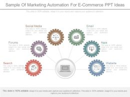 Sample Of Marketing Automation For E Commerce Ppt Ideas