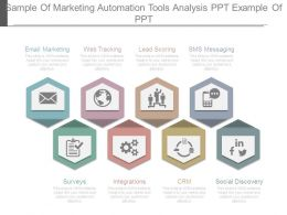 Sample Of Marketing Automation Tools Analysis Ppt Example Of Ppt