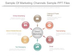 Sample Of Marketing Channels Sample Ppt Files