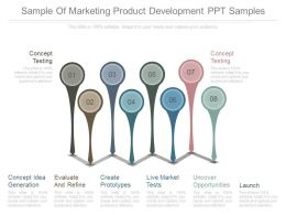 Sample Of Marketing Product Development Ppt Samples