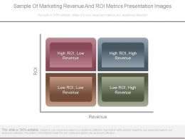 Sample Of Marketing Revenue And Roi Metrics Presentation Images