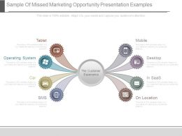 Sample Of Missed Marketing Opportunity Presentation Examples