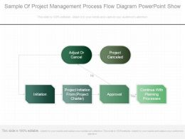 Sample Of Project Management Process Flow Diagram Powerpoint Show