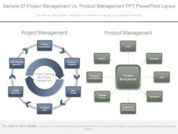 Sample Of Project Management Vs Product Management Ppt Powerpoint Layout
