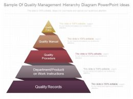 Sample Of Quality Management Hierarchy Diagram Powerpoint Ideas