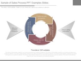Sample Of Sales Process Ppt Examples Slides