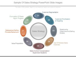 Sample Of Sales Strategy Powerpoint Slide Images