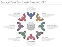 Sample Of Sales Tools Sample Presentation Ppt