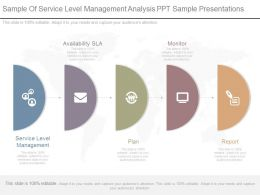 Sample Of Service Level Management Analysis Ppt Sample Presentations