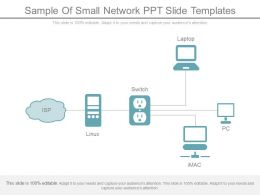 Sample Of Small Network Ppt Slide Templates