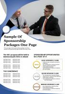Sample Of Sponsorship Packages One Page Presentation Report Infographic PPT PDF Document