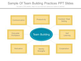 Sample Of Team Building Practices Ppt Slides