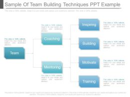 Sample Of Team Building Techniques Ppt Example