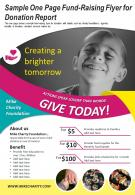 Sample On Page Fund-Raising Flyer For Donation Report Presentation Report Infographic PPT PDF Document