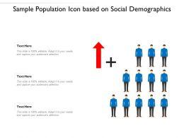 Sample Population Icon Based On Social Demographics