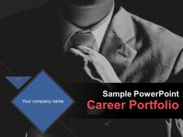 Sample Powerpoint Career Portfolio PowerPoint Presentation Slides
