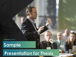 Sample Presentation For Thesis Powerpoint Presentation Slides