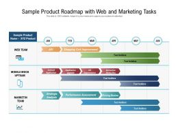Sample Product Roadmap With Web And Marketing Tasks