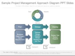 Sample Project Management Approach Diagram Ppt Slides