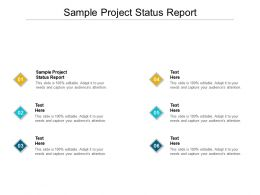 Sample Project Status Report Ppt Powerpoint Presentation Gallery Design Inspiration Cpb
