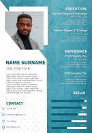 Sample Resume Design For Job Search Impressive CV Template