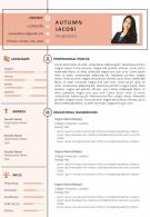 Sample Resume Format For Job Search