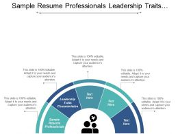 Sample Resume Professionals Leadership Traits Characteristics Startup Marketing Cpb