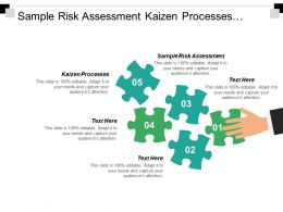 Sample Risk Assessment Kaizen Processes Monthly Management Report Cpb