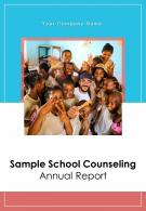 Sample School Counseling Annual Report PDF DOC PPT Document Report Template