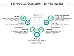 Sample Size Qualitative Interview Studies Ppt Powerpoint Presentation Portfolio Design Cpb