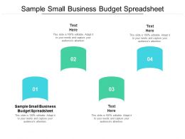 Sample Small Business Budget Spreadsheet Ppt Powerpoint Example Cpb