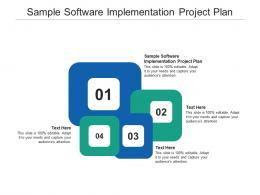 Sample Software Implementation Project Plan Ppt Powerpoint Presentation Slides Graphics Design Cpb