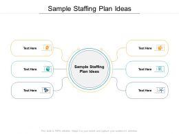 Sample Staffing Plan Ideas Ppt Powerpoint Presentation Gallery Ideas Cpb
