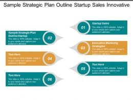Sample Strategic Plan Outline Startup Sales Innovative Marketing Strategies Cpb