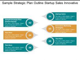 Sample Strategic Plan Outline Startup Sales Innovative Marketing Strategies Cpb