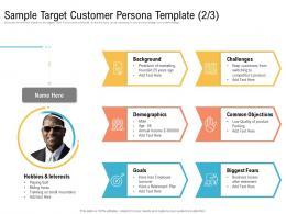 Sample Target Customer Persona Template Biggest Ppt Diagrams