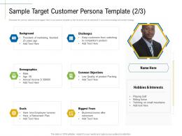 Sample Target Customer Persona Template Competitors Product Ppt Clipart