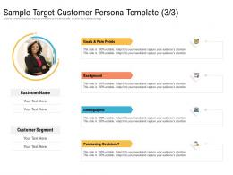 Sample Target Customer Persona Template Purchasing Decisions Ppt Introduction