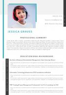 Sample Template Of Professional Curriculum Vitae