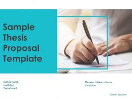 Sample Thesis Proposal Template Powerpoint Presentation Slides