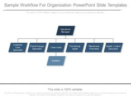 Sample Workflow For Organization Powerpoint Slide Templates