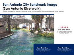 San Antonio City Landmark Image San Antonio Riverwalk Powerpoint Template