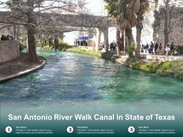 San Antonio River Walk Canal In State Of Texas