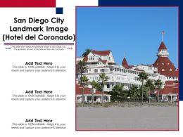 San Diego City Landmark Image Hotel Del Coronado Powerpoint Template