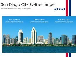 San Diego City Skyline Image Powerpoint Presentation PPT Template