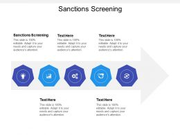 Sanctions Screening Ppt Powerpoint Presentation Ideas Backgrounds Cpb