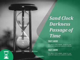 Sand Clock Darkness Passage Of Time